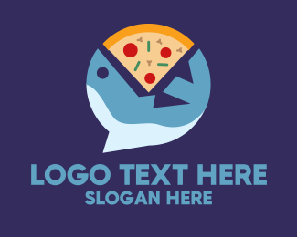 Casual Dining - Seafood Pizza logo design
