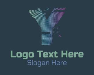 Fortnite - Modern Glitch Letter Y logo design