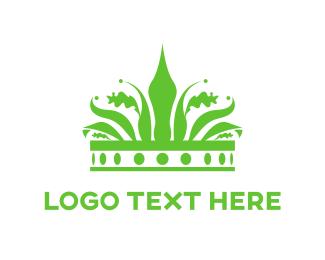 Princess - Green Crown logo design