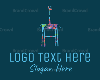 Table - Floral Giraffe logo design