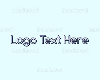 Wordmark - Round Blue Wordmark logo design