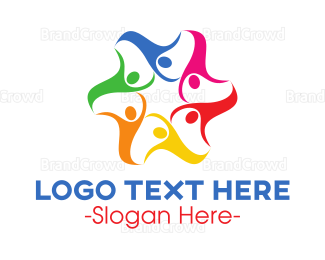 Diversity - Colorful Human Star logo design