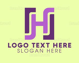 Designer - Modern Rectangle H logo design