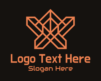 Orange Abstract Gaming Logo