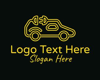 Plug - Electric Car Plug logo design
