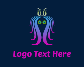 Queen - Colorful Jellyfish logo design