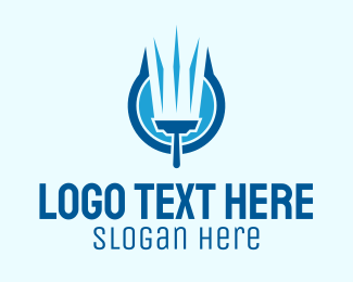 Gauge - Blue Squeegee Clean Wash  logo design