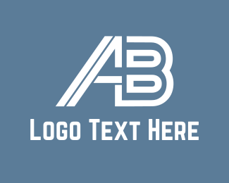 Ab - A & B  logo design