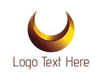 Moon - Gold Moon logo design