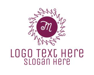 Hinduism - Summer Solstice Lettermark logo design