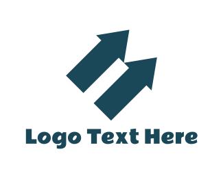 Rewind - Arrows Up logo design