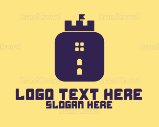 Mobile Phone - Castle App  logo design