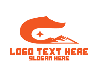 Orange Wave - Fox Tail Mountain logo design