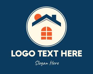 Sun Rays - Modern Sunny Home logo design