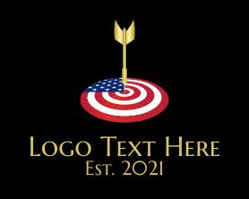 Gaming - American Dart Target logo design