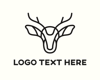 Moose Antlers - Abstract Deer logo design