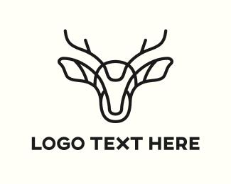 Life - Abstract Deer logo design
