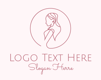Sister - Beautiful Lady Monoline logo design