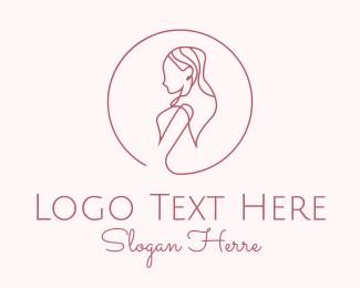 Hair Product - Beautiful Lady Monoline logo design