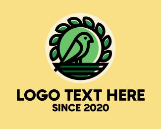 Nest - Green Bird Nest logo design