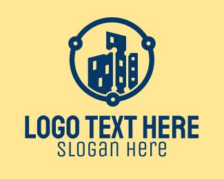 Online Listing - Digital Property Development logo design