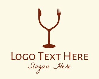 Food And Wine - Drink & Eat Restaurant logo design