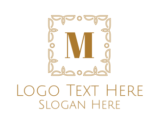 Intricate - Luxurious Frame Lettermark logo design