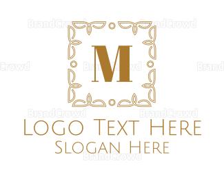 Cultural - Luxurious Frame Lettermark logo design