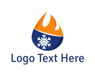 Heating And Cooling - Hot & Cold  logo design