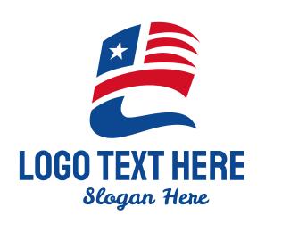 Puerto Rican - Star & Stripes Flying Flag  logo design