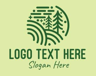 Coniferous - Minimalist Pine Forest  logo design