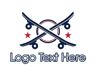 Longboard - Double Skateboard logo design