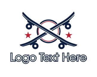 Skateboard - Double Skateboard logo design