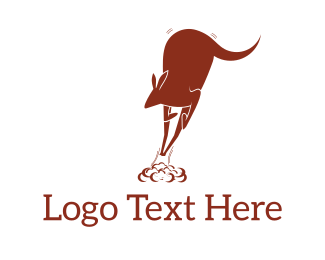 Australian - Red Kangaroo Jump logo design