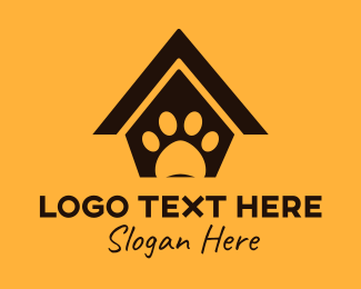 Kennel - Black Pet House logo design