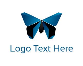 Artistic - 3D Butterfly logo design