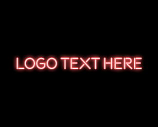 Neon - Pink Neon Bar logo design