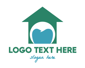 Braces - Green Tooth House logo design