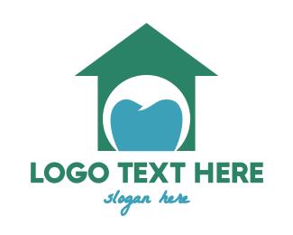 Orthodontist - Green Tooth House logo design
