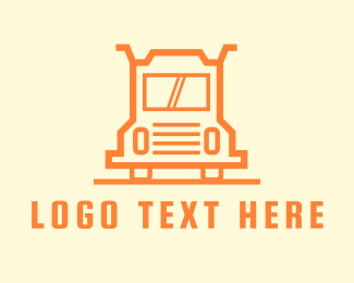 Courier - Orange Truck Courier logo design