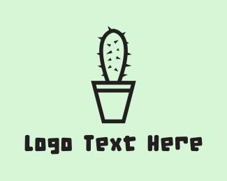 Cactus - Cactus Pot logo design