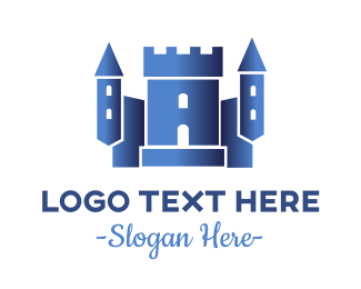 Anime - Blue Castle logo design