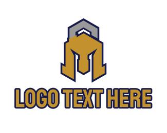 Lock - Spartan Lock logo design