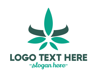 High - Modern Cannabis Leaf logo design