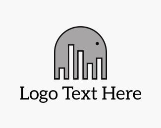 Karaoke - Elephant Music logo design