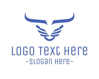 Evil - Evil Blue Bull logo design