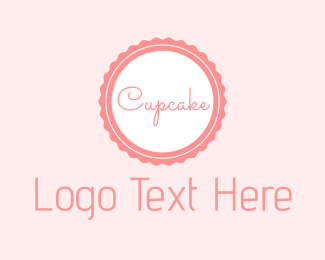 Brown Cupcake - Cupcake Circle Tag logo design