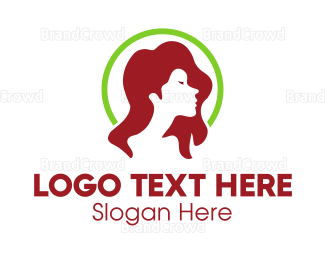Hair And Beauty - Woman Profile logo design