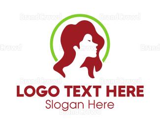 Hairstyle - Woman Profile logo design