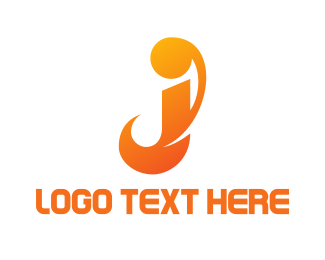 Apostrophe - Orange J Stroke logo design